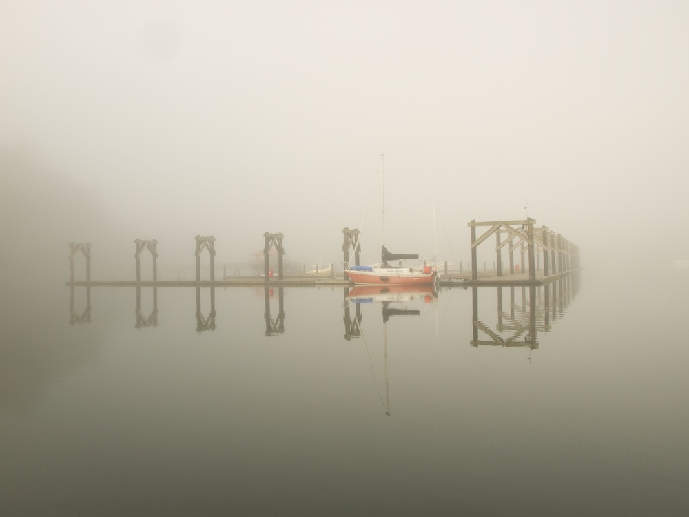 Quartermaster Harbor Fog, Puget Sound, Washington