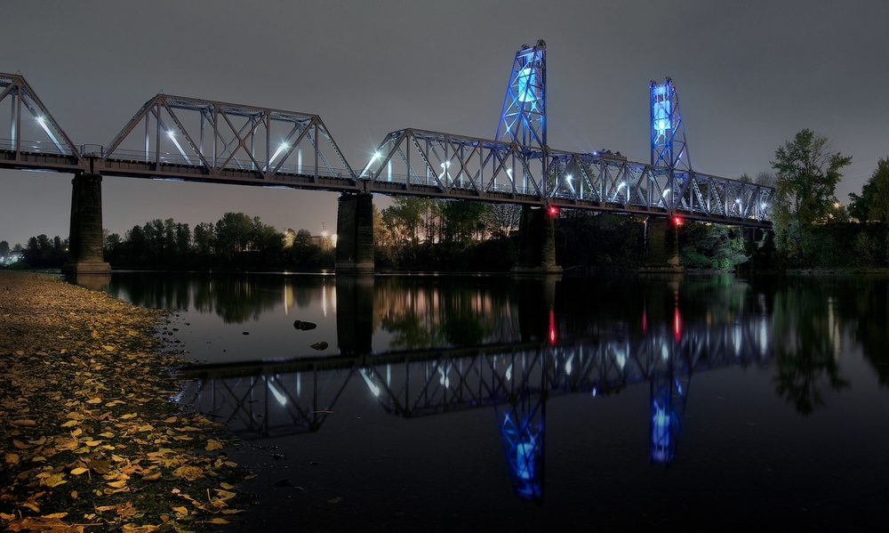 Union Street Railroad Bridge, Salem, Oregon.