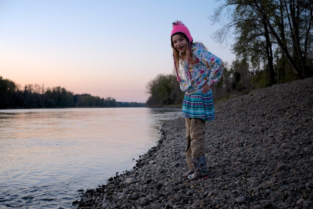 Pink Hat Girl - Keizer Rapids Park, Oregon