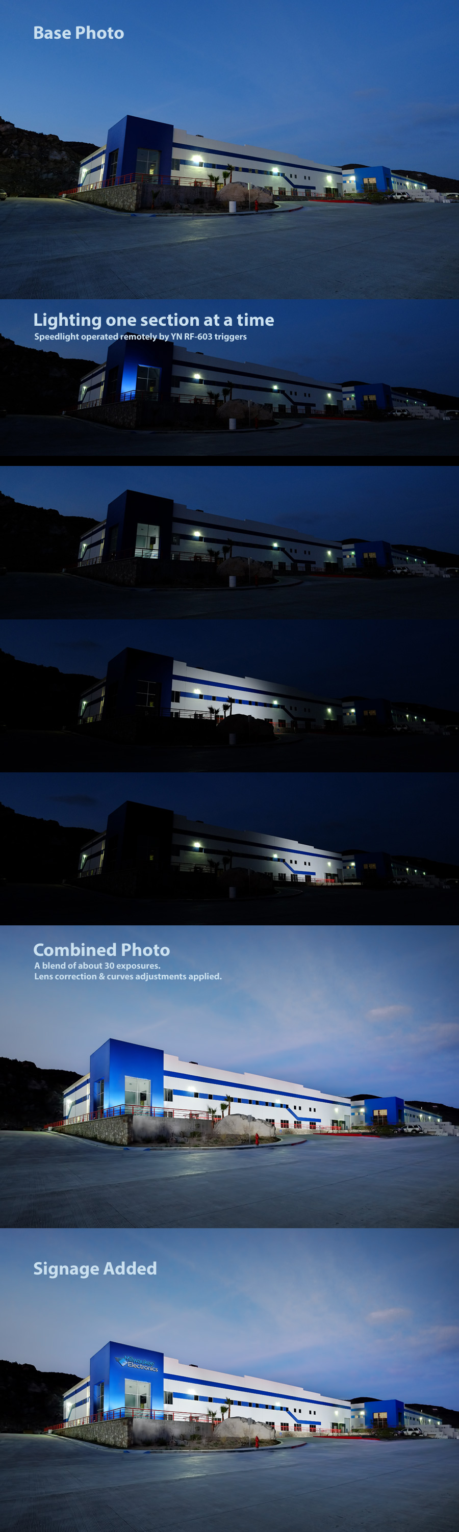 Lighting a large building with one speedlight - Base image is Fujifilm XE-1, Zeiss Touit 12mm, ISO 800, f/5.6, 1/4.