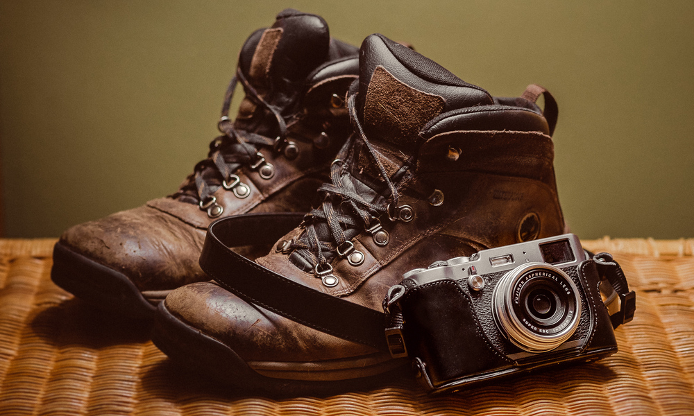 Two essentials on this trip, a good pair of hiking boots and the Fujifilm X100t   [ Fujifilm XE-1, XF 60mm, f/2.8, 1/30s, ISO 800 ]