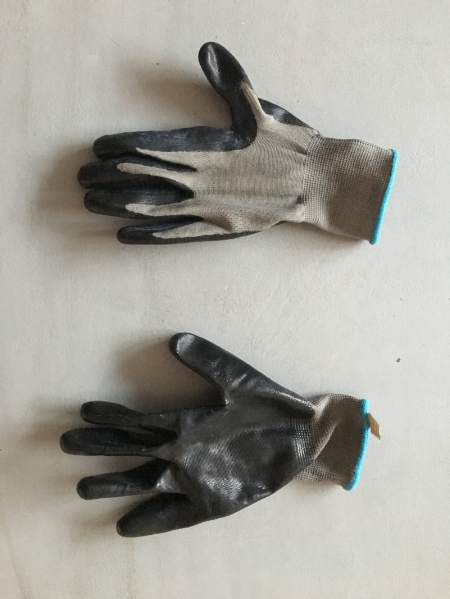 An unflattering, but good example of the gloves I use frequently.