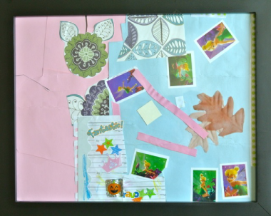 Collage Made by my niece using Found Materials