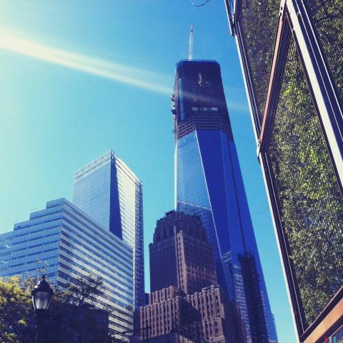 New World Trade Center being built