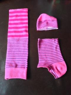 pink socks cut