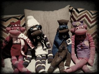 Acollection of sock puppets