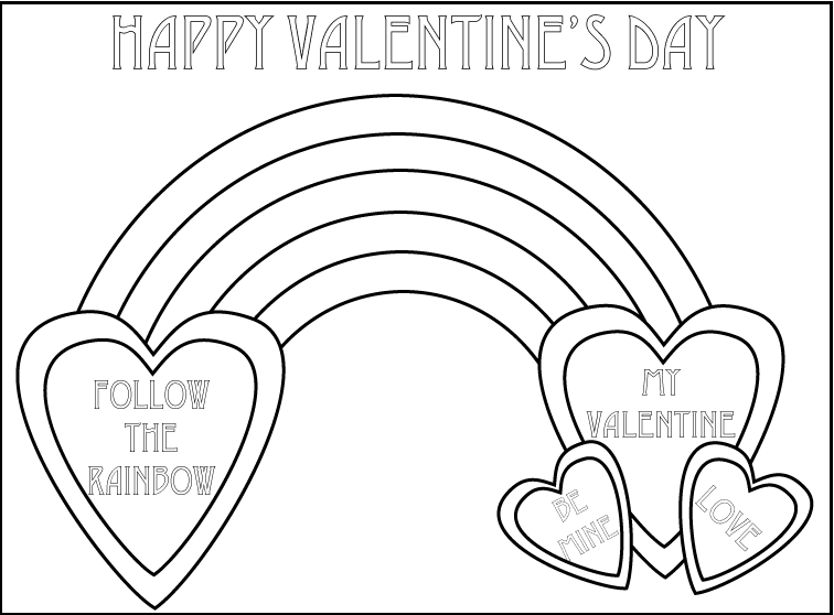 Valentine\'s Day Coloring Sheet — My Art To Inspire