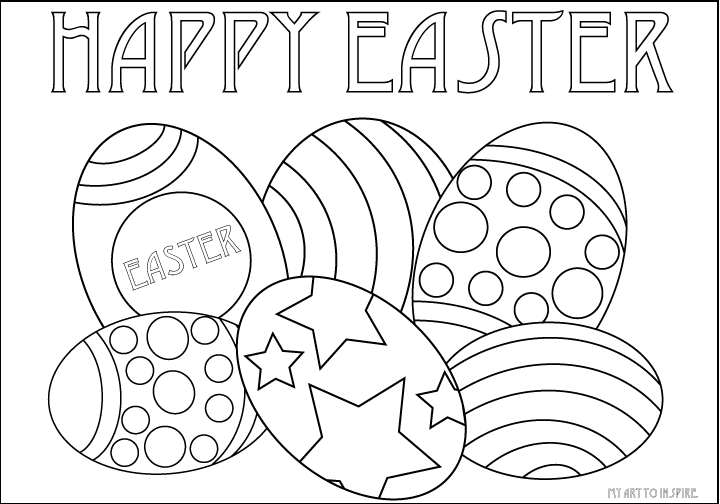 easter egg coloring sheets my art to inspire - Easter Egg Coloring Pages