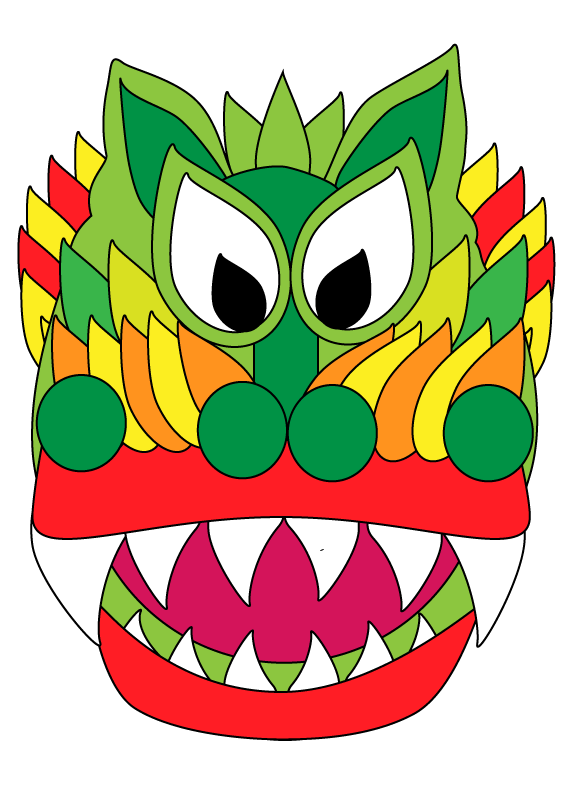Chinese New Year Dragon and Lantern Coloring Sheets — My Art To ...
