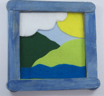 Framed Felt Picture