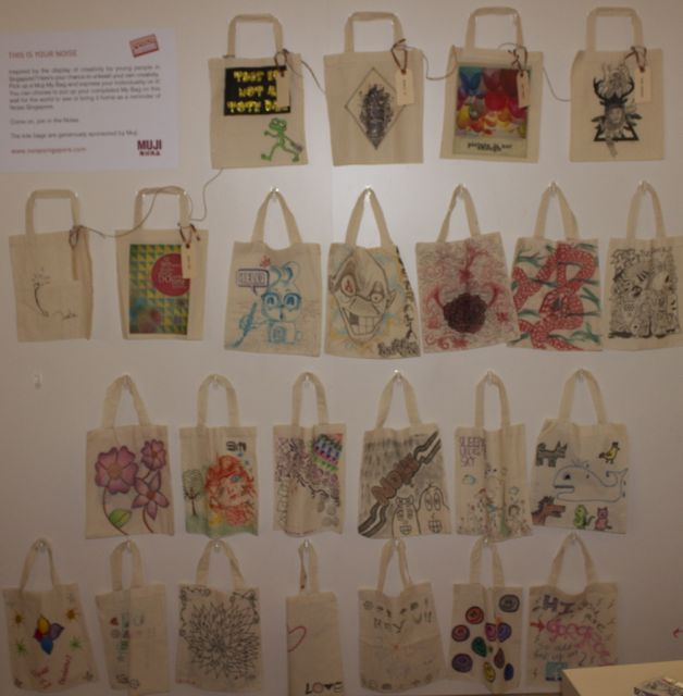 Tote Wall from Art Noise