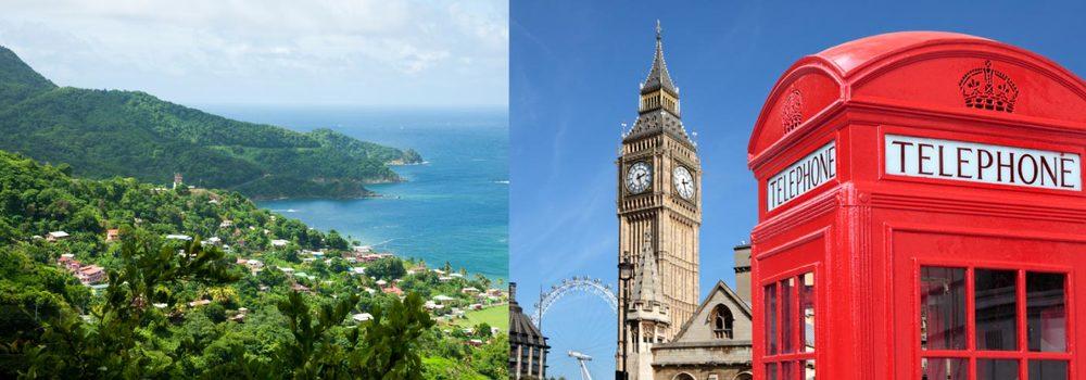 Tobago and London views
