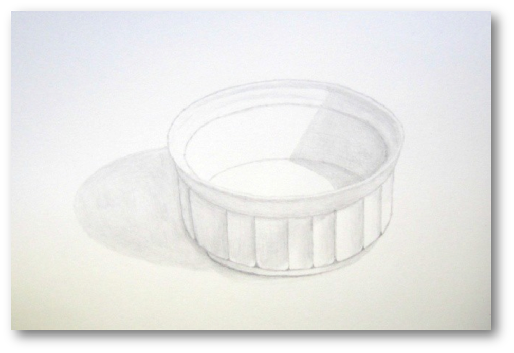 "Figure 13: Custard Cup, Graphite, 9""x12"""