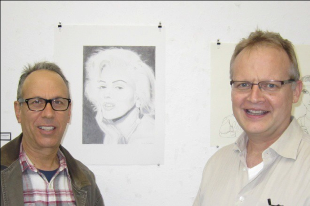 Figure 20: Gary Paller, Marilyn Monroe, and Me.