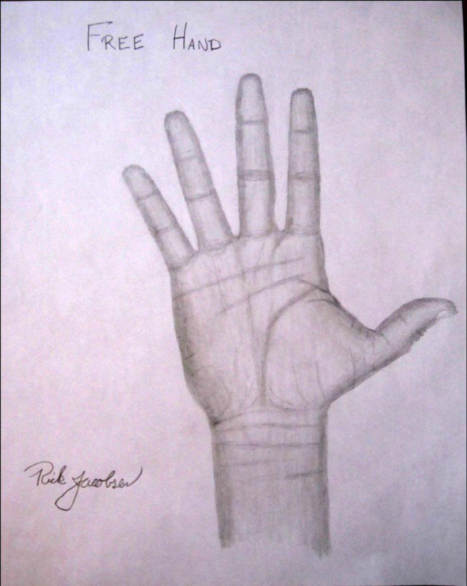 Figure 21: Free Hand, Graphite, 8.5 x 11
