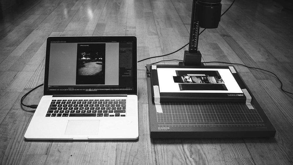Station de numérisation/scan pourfilmargentique.