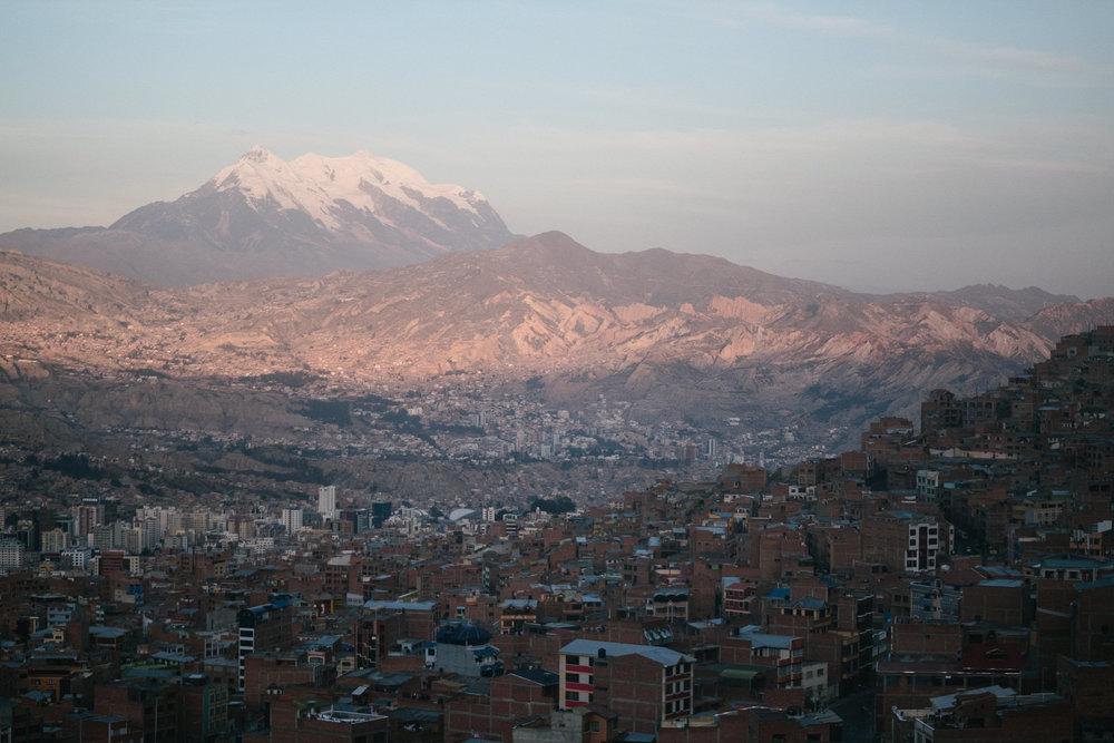 Cerro Illimani & La Paz  - Bolivie