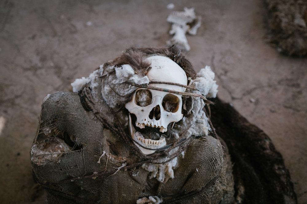 Cimetière de Chauchilla  - Nazca, Pérou.