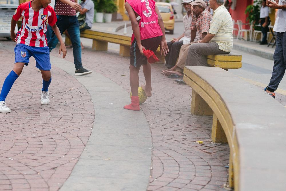 Plaza de la Trinidad  - Carthagène, Colombie.