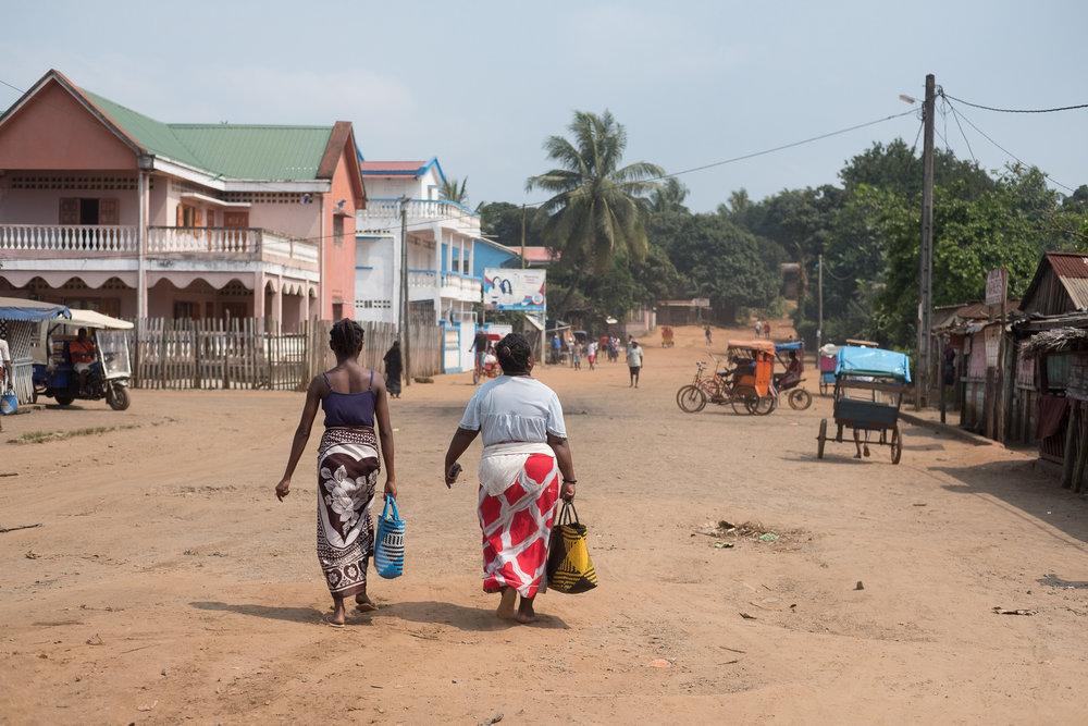 Place du marché  - Manakara, Madagascar.