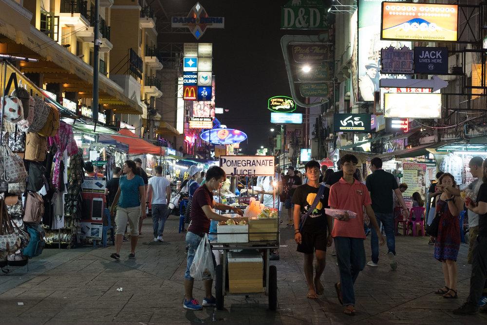 Koshan Road  - Bangkok, Thaïlande.