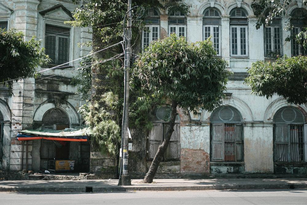 Quartier colonial  - Rangon, Myanmar.