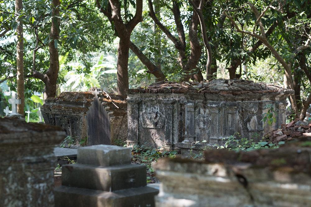 Cimetière chrétien  - Moulmein, Myanmar.