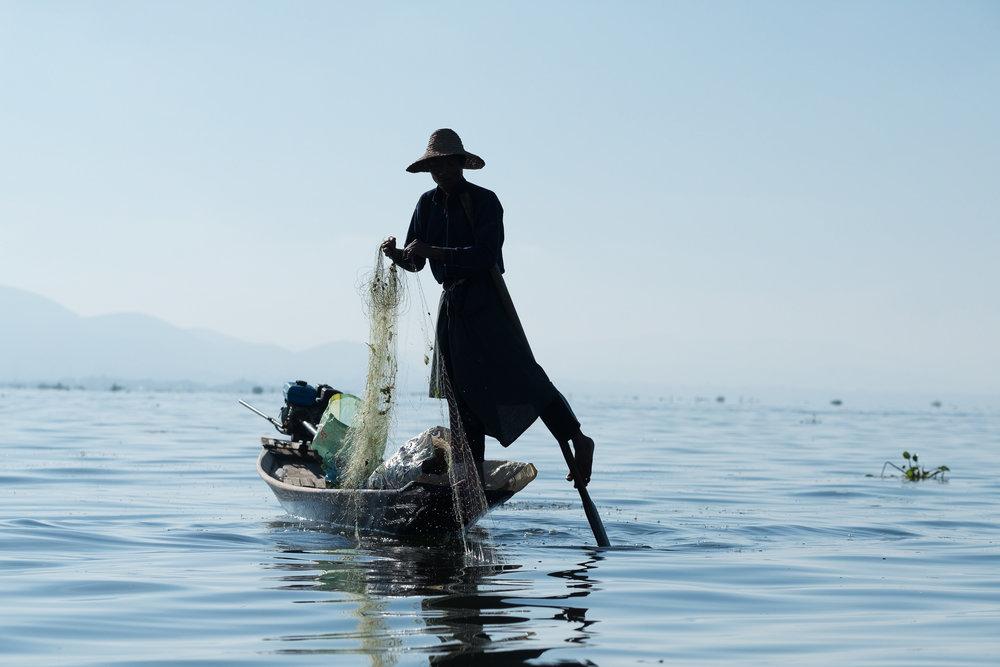 Treck du lac Inle  - Nyaung Shwe, Myanmar.