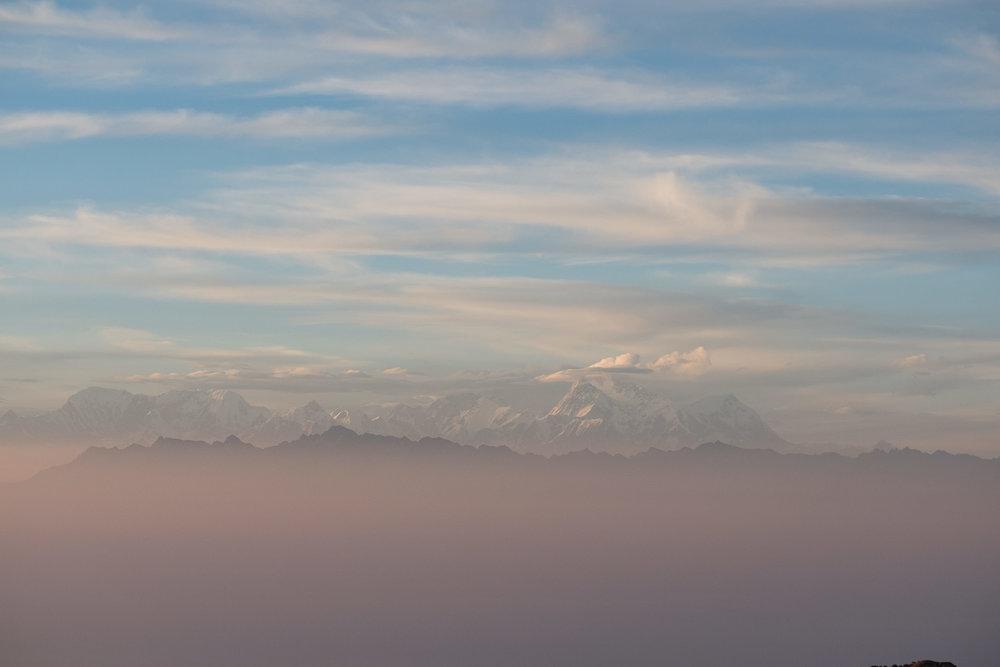 L'Everest (plus haut sommet au monde), Shankaphu treck  - Darjeeling, India.