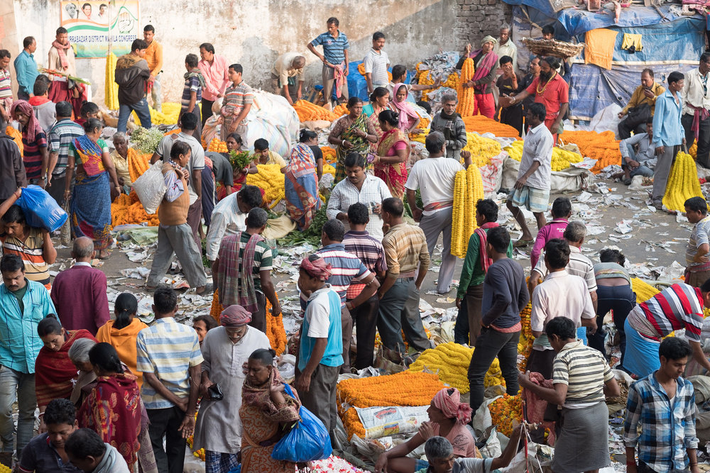 Flower market  - Kolkata, India.