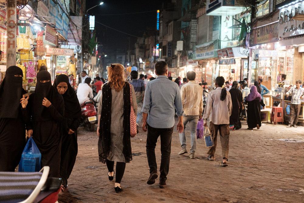 Marjolaine & Manish, Charminar  - Hyderabad, India.