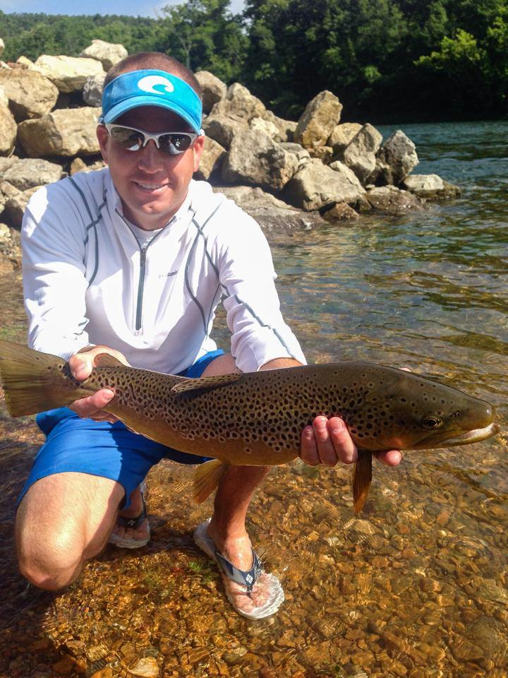 Scott with a bruiser brown on a hopper