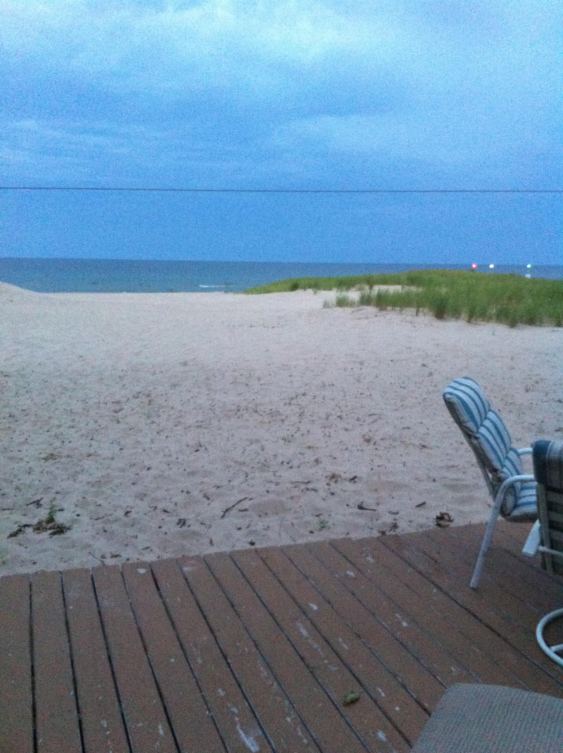 Just before sunrise on Lake Michigan