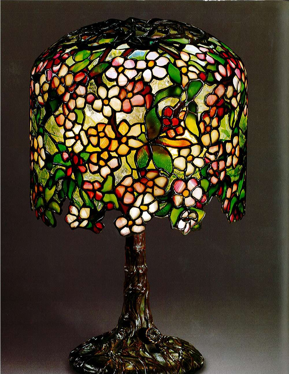 "Tiffany Studios, ""Pony"" Apple Blossom,1902-1906"