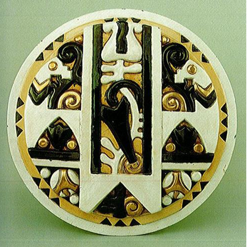 Zsolnay Manufactory,  Decorative element for main entrance of the Calvinist Church,  Budapest,  1913