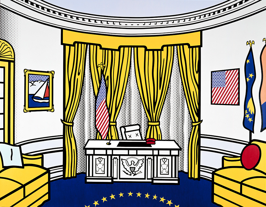 Roy Lichtenstein,  Oval Office , 1993 © Estate of Roy Lichtenstein