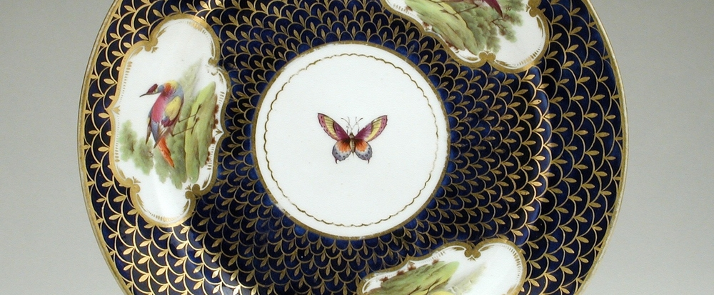 Porcelain saucer with gilding