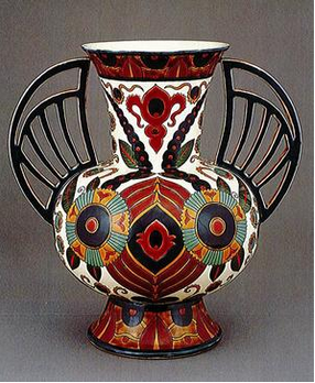 Zsolnay Manufactory, Winged Vase, 1882