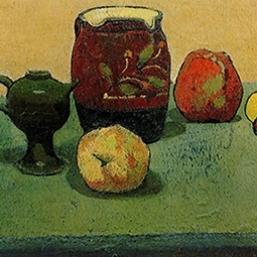 Émile Bernard, Earthenware Pot and Apples, 1887