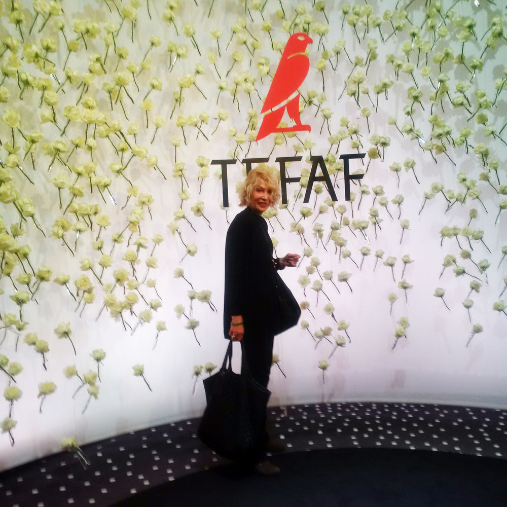 OTE President Dr. Elin Lake-Ewald at  TEFAF in   Maastrict, Holland