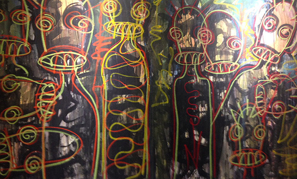 1:54 Contemporary African Art  Aboudia Nouchi City Series  Galerie Cecile Fakhoury,  Côte d'Ivoire