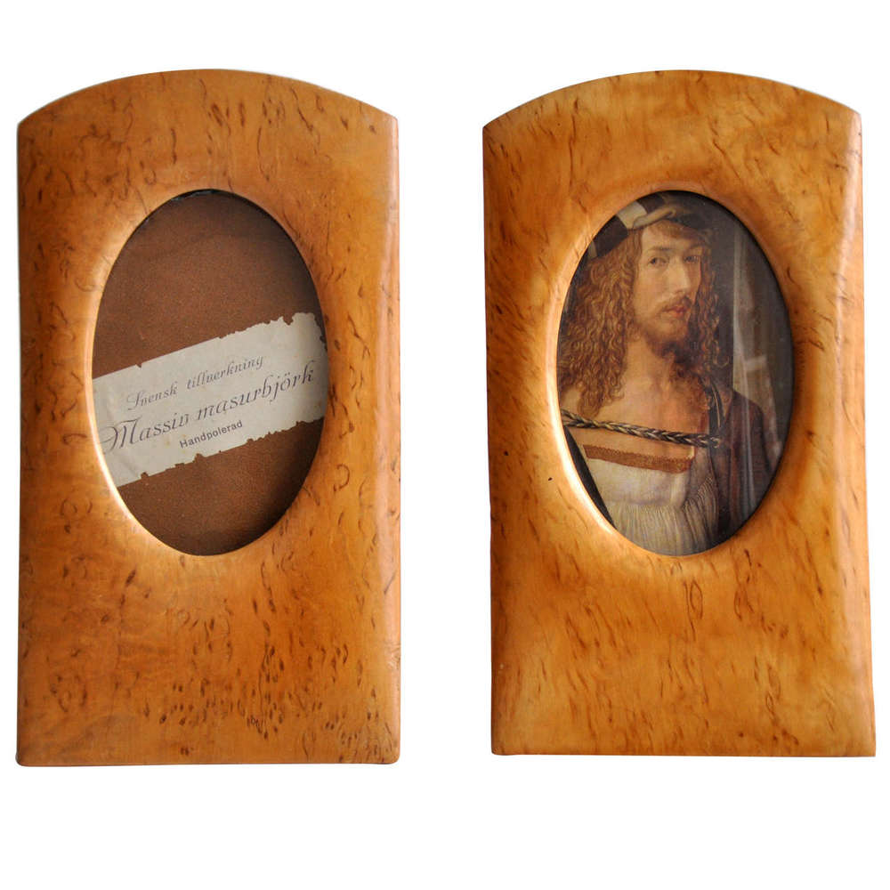 Pair of Swedish Art Deco Wood Picture Frames