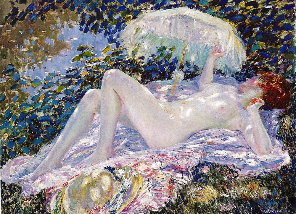 Frederick Frieseke, Venus in the Sunlight, 1912