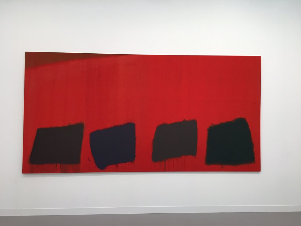 Another that caught my eye.  By John Hoyland (1965 - was English) - at the Pace Gallery stand.   It is 183cm high x 366cm long.   Price: £180,000 (sterling)