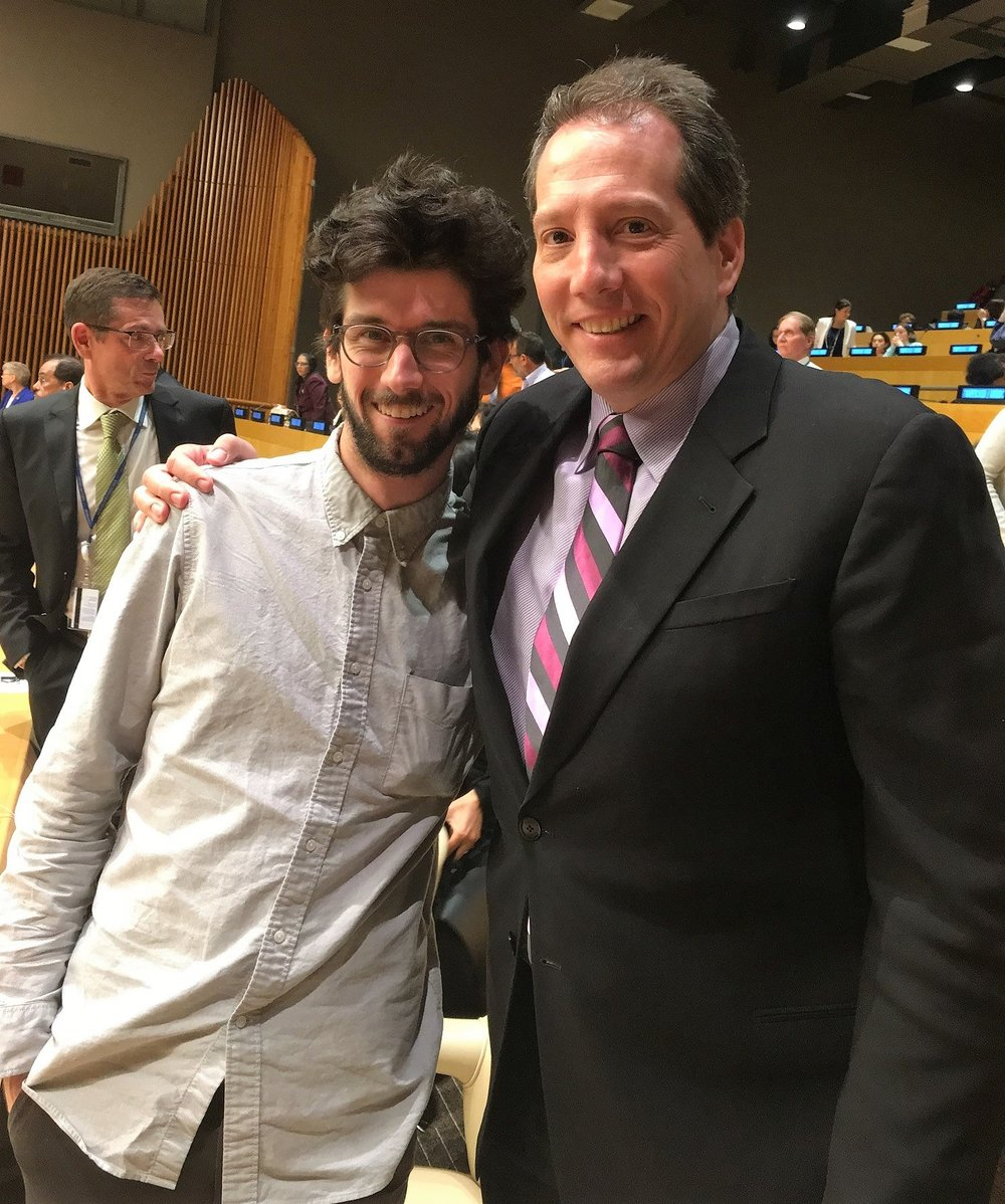 Among the Hollywood contingent were Patrick Ewald, CEO of Epic Pictures, and film distributor for Trafficking, and brotherJake Ewald, independent video producer.