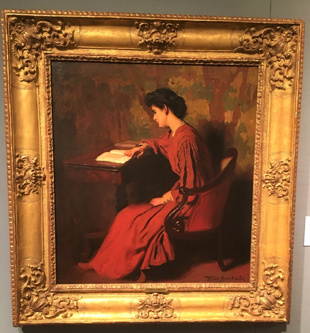 Thomas Anshutz, Woman Reading at Desk.JPG