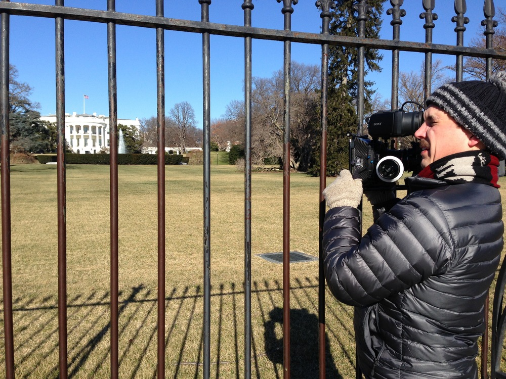 "Filming outside the White House during a visit to the ""Undiagnosed Diseases Program"" at the National Institutes of Health"