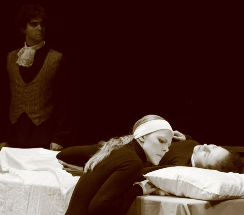 Stewart Kramer, Jennifer Moore and Leanne Gonzalez-Singer in Dell'Arte's Opera Ensemble's production of Poulenc's Dialogues des Carmélites.The Goods, on a shoestring.