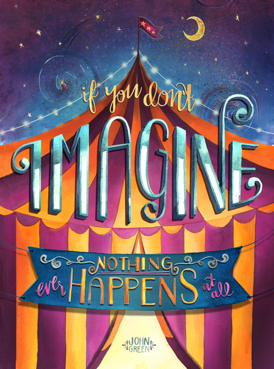 "John Green ""Imagine"" by Becca Cahan"