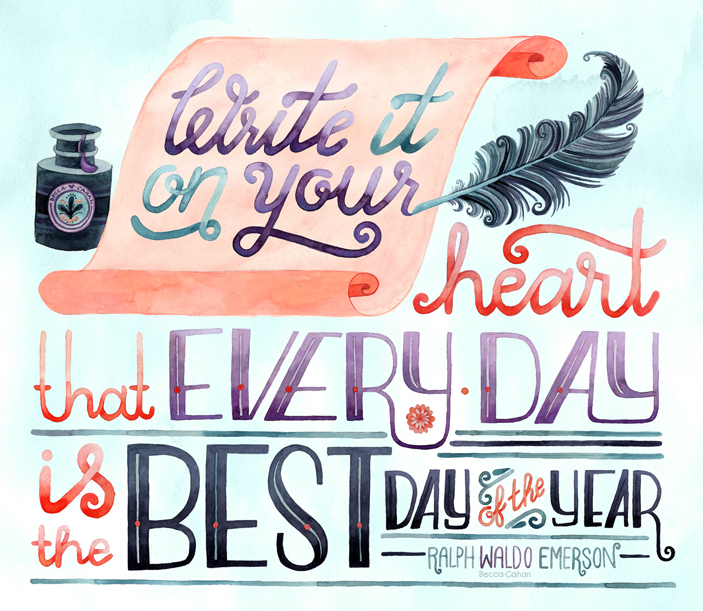"Emerson ""Every Day is the Best Day"" by Becca Cahan"